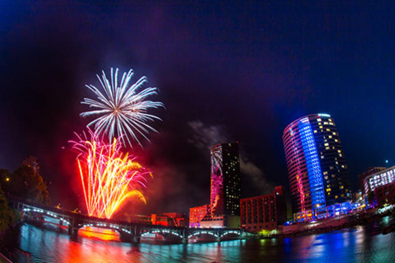 July 4th celebration in Grand Rapids
