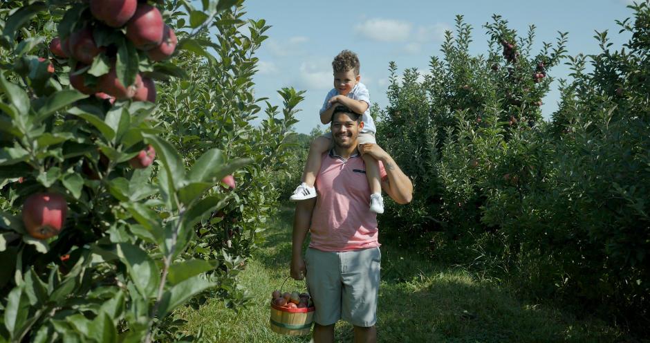 Apple picking at Bloks