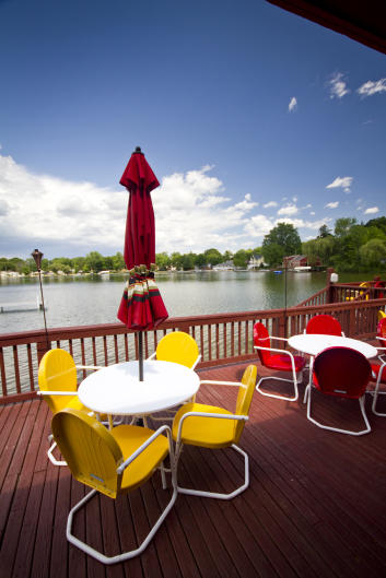 This gorgeous deck at Bostwick Lake Inn received tons of votes in our social media poll!