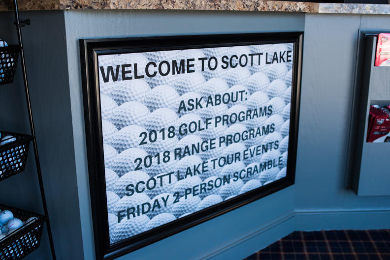 Welcome to Scott Lake sign