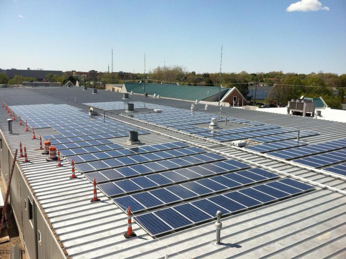 Solar panels in Grand Rapids.