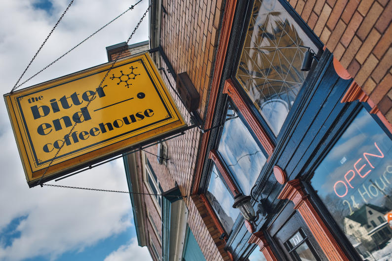 The Bitter End Coffee House is Grand Rapids' only coffee shop that's open all day, every day.