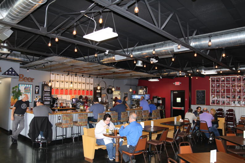 TwoGuys Brewing menu offers craft beer, wine, cider, and hard seltzer cocktails.