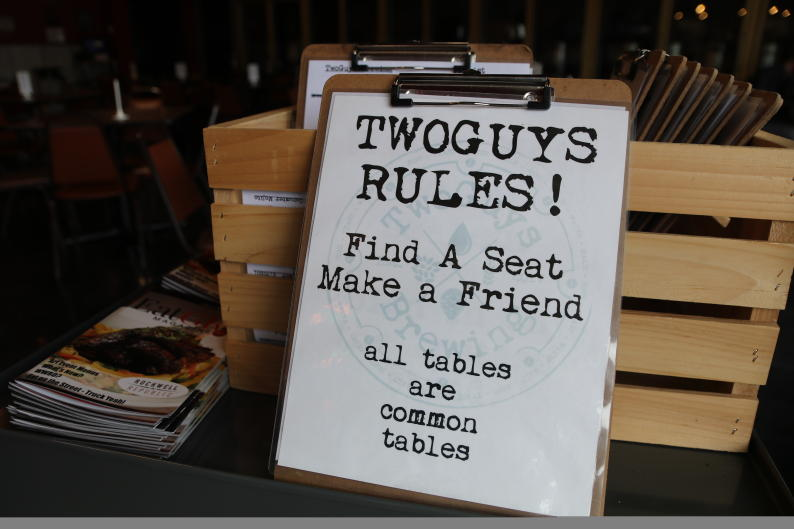 With seasonal menu changes, TwoGuys Brewing offers plenty of food options.