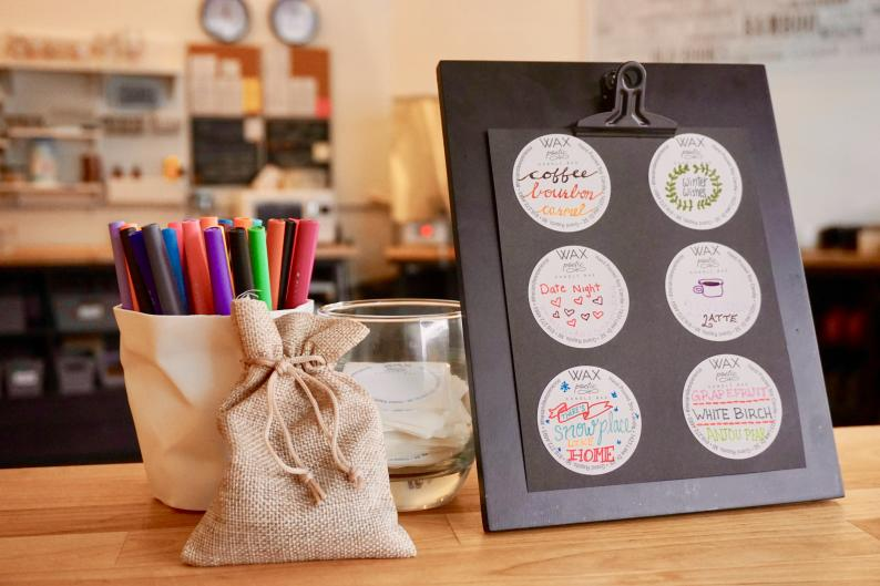 Create a label for your custom candles at Wax Poetic in Grand Rapids