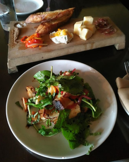 Osteria Rossa lets you pick three items from their meat, cheese and spread selection for the RWGR antipasta appetizer.