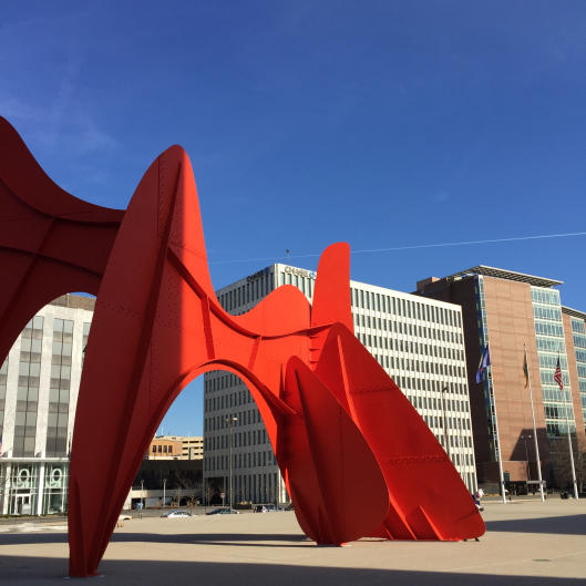 Alexander Calder's La Grande Vitesse at Vandenberg Plaza (aka Calder Plaza if you're a local). Clearly unicorns love beautiful things, too.