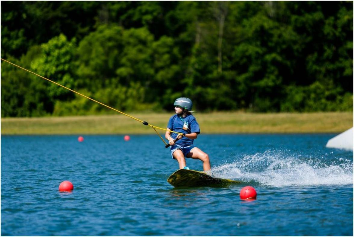 Cable wakeboarding at Action Wake Park.