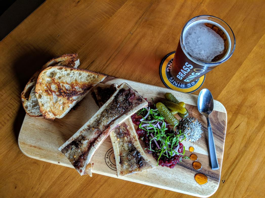 Brass Ring Brewing's bone marrow is the first of two dinner courses offered for $25 during RWGR.