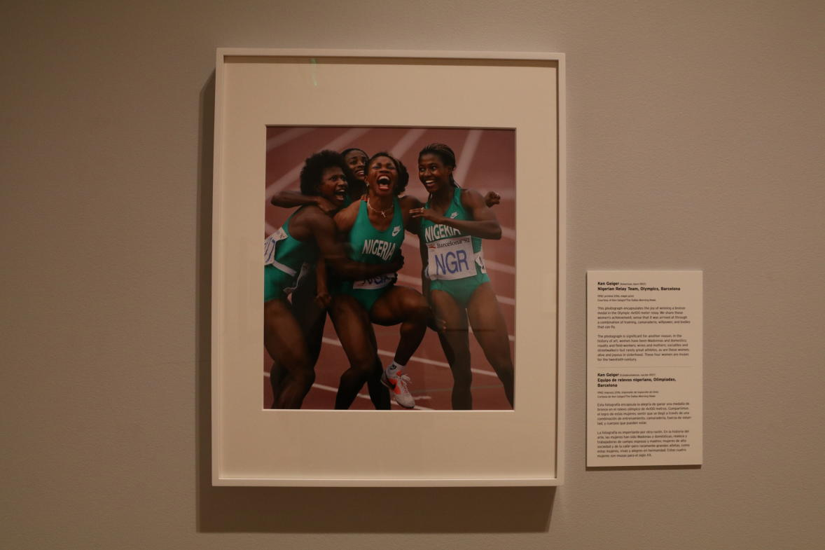 """The Nigerian 4x100 meter relay team exuding excitement after earning a bronze medal in the 1992 Olympics is just one of the images featured in """"Who Shot Sports."""""""