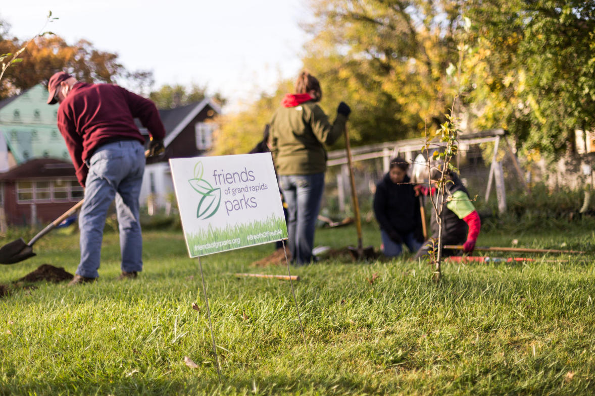 Citizen foresters learn to care for and properly plant trees.