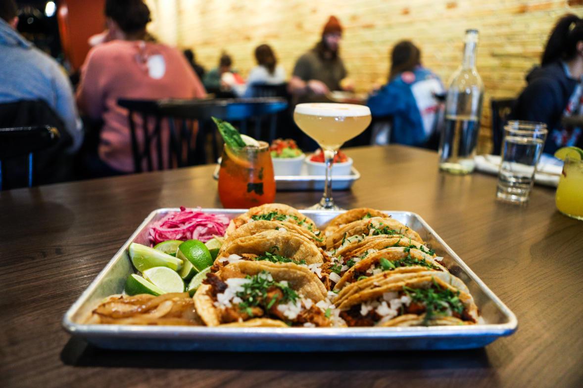 Tacos and margaritas at Luna restaurant