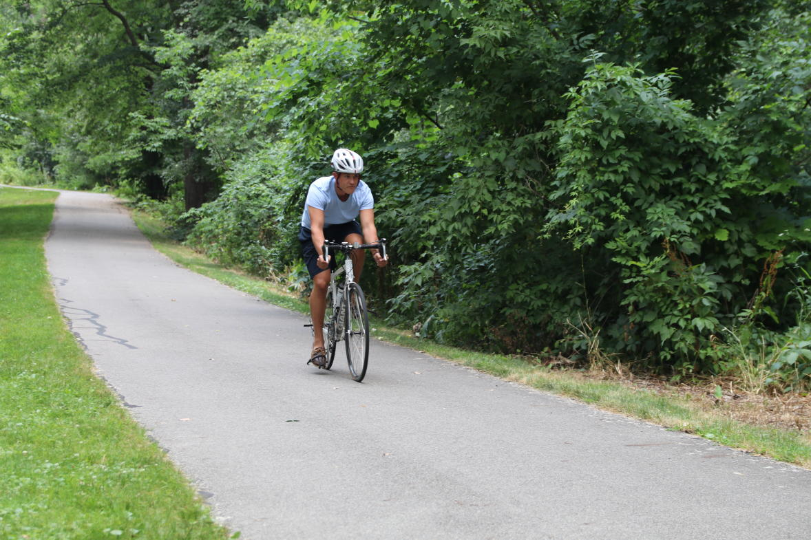 Millennium Park offers plenty of bike paths for safe bike riding.