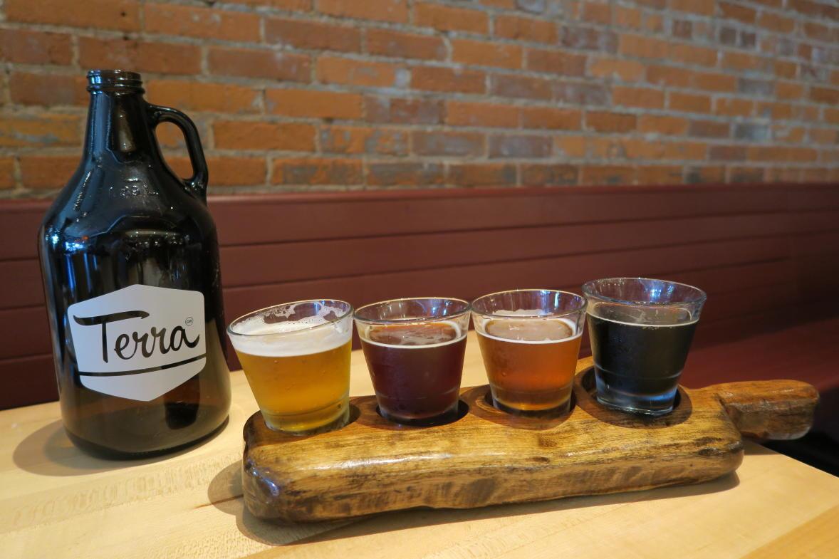 Terra GR beer flight