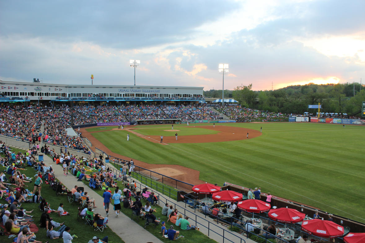 Fifth Third Ballpark features meeting rooms, suites, outdoor decks and more.