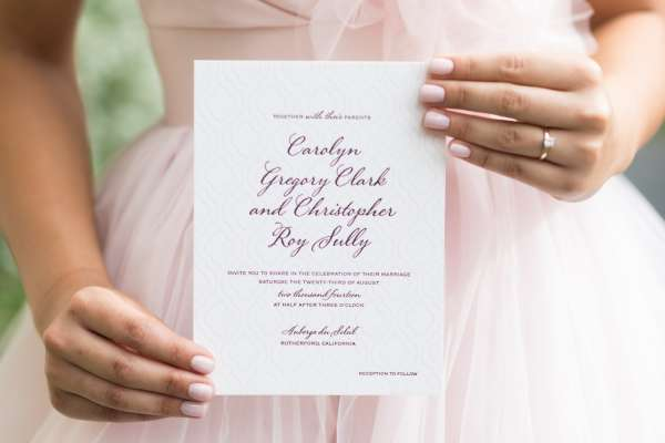 Bridesmaid with Invitation