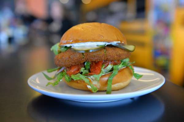 Bernie's Burger Bus - Falafel burger