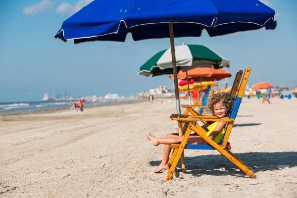 Galveston Stewart Beach - chair