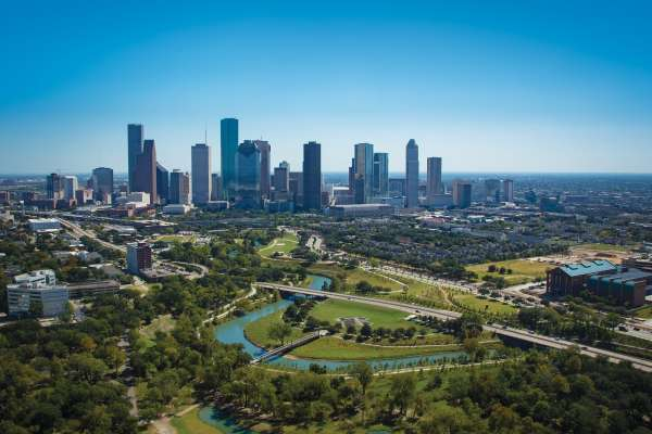 Houston Skyline More Sky