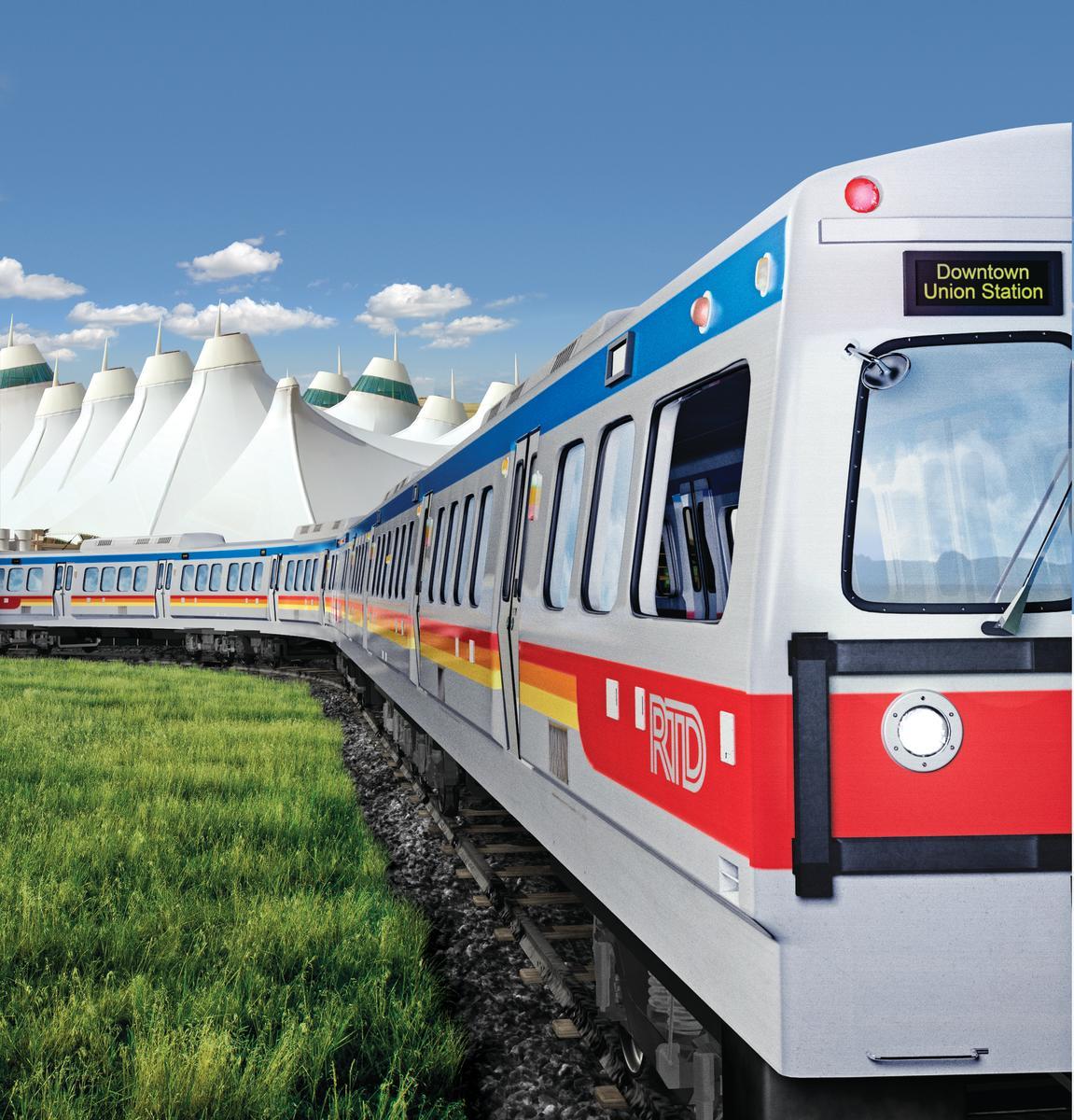 Denver Airport Train & Light Rail