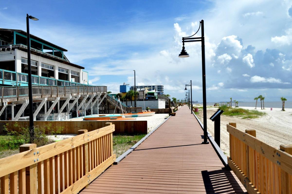 West Biloxi Beach Boardwalk Offers A Beautiful Stroll