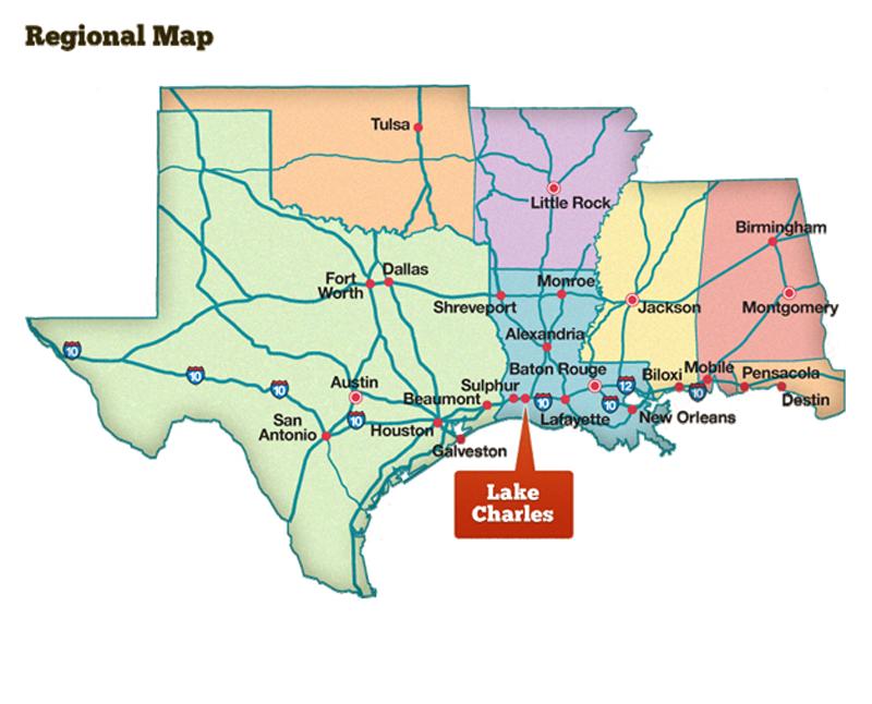 Lake Charles Map Lake Charles/Southwest Louisiana has a lots to offer it's visitors  Lake Charles Map