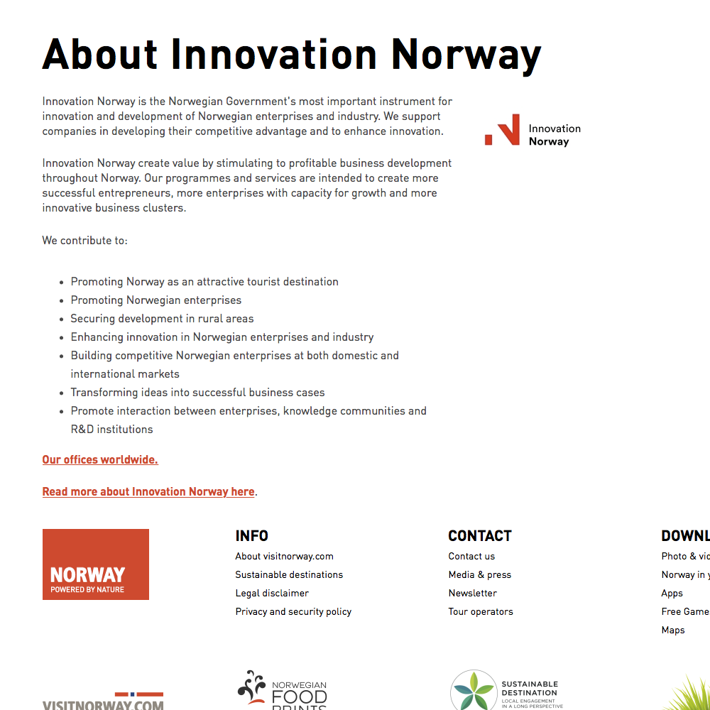 About Innovation Norway