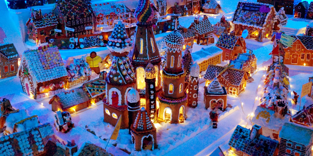 Christmas In Norway.The World S Largest Gingerbread Town Christmas In Bergen