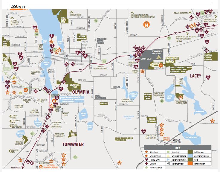 Map Of Olympia Wa | Park Map