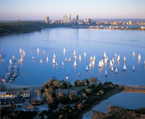 Swan River, Perth City Skyline