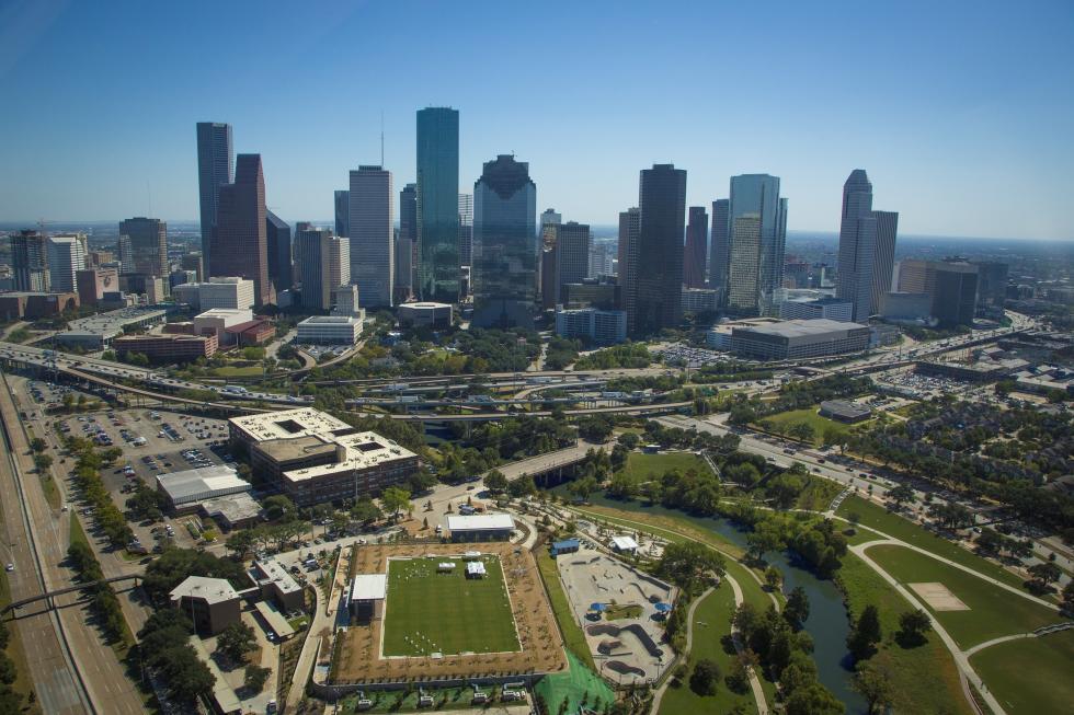 Houston Skyline Buffalo Bayou