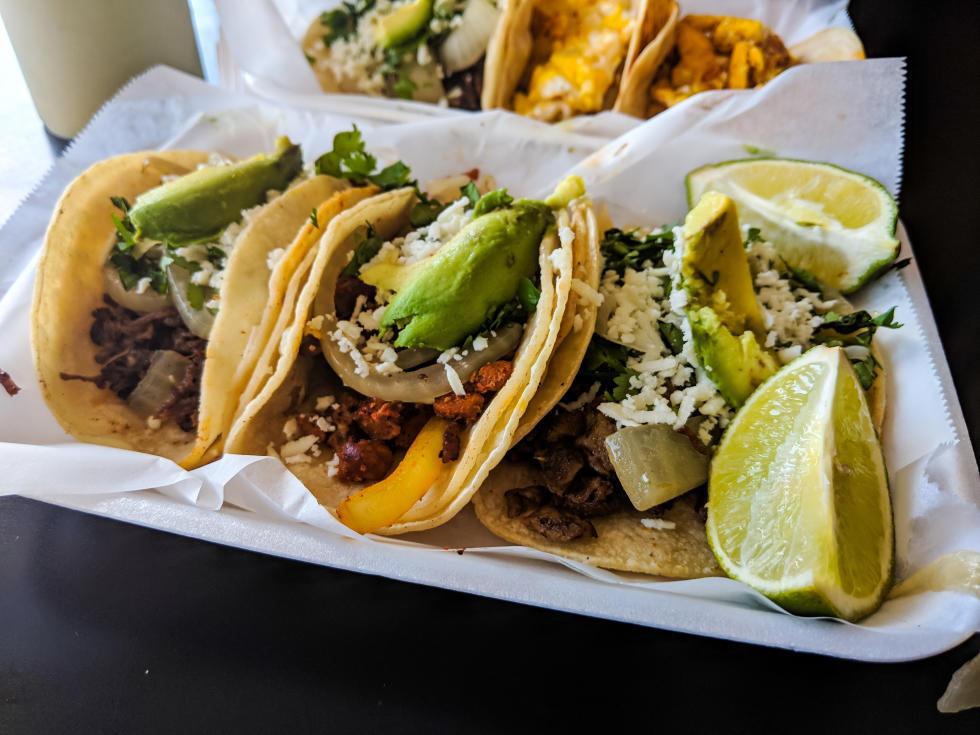 Tacos at Los Gemelos