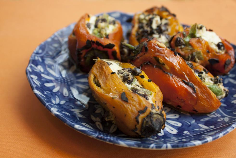 Pondicheri's Stuffed Baby Peppers