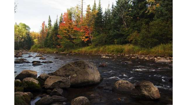 West Branch of the Ausable River near the olympic jumping complex