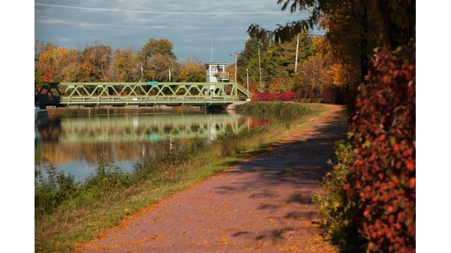 View of Park Ave. Lift Bridge on Erie Canal 1799