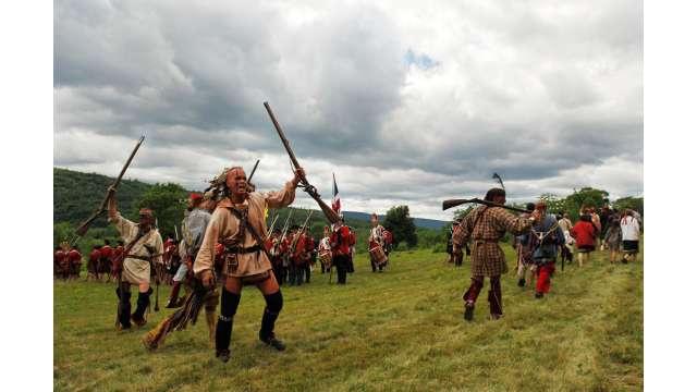 French & Indian War reenactment at Fort Ticonderoga