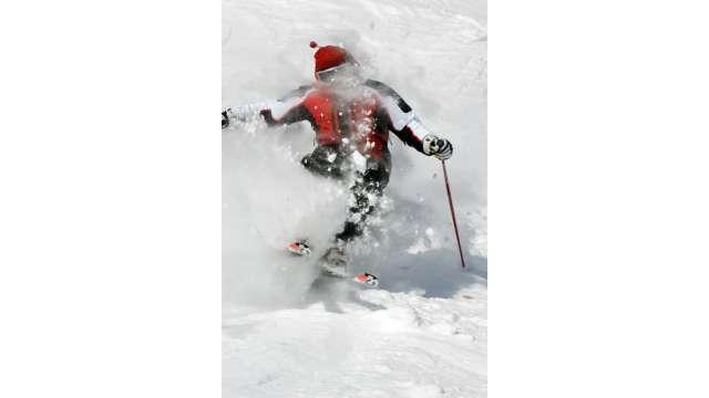 Skiing at Hunter Mountain 1128