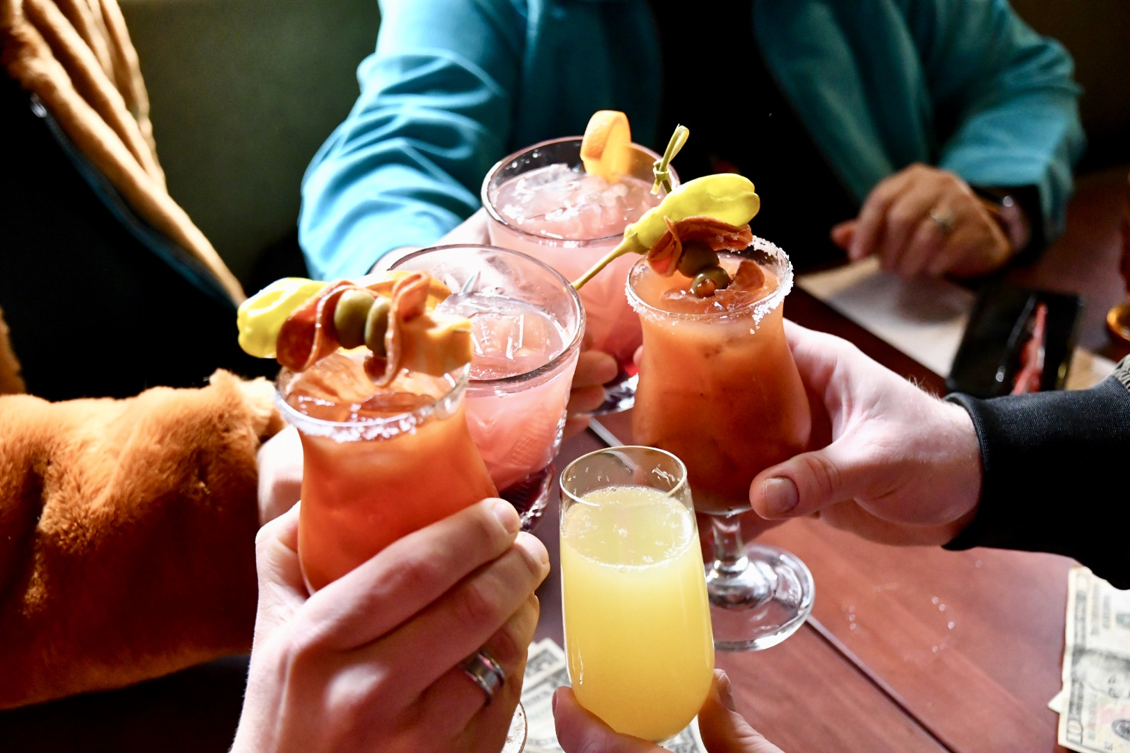Cheers at Brunch with Cocktails