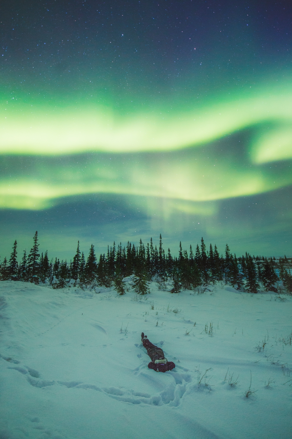 Viewing northern lights in Churchill