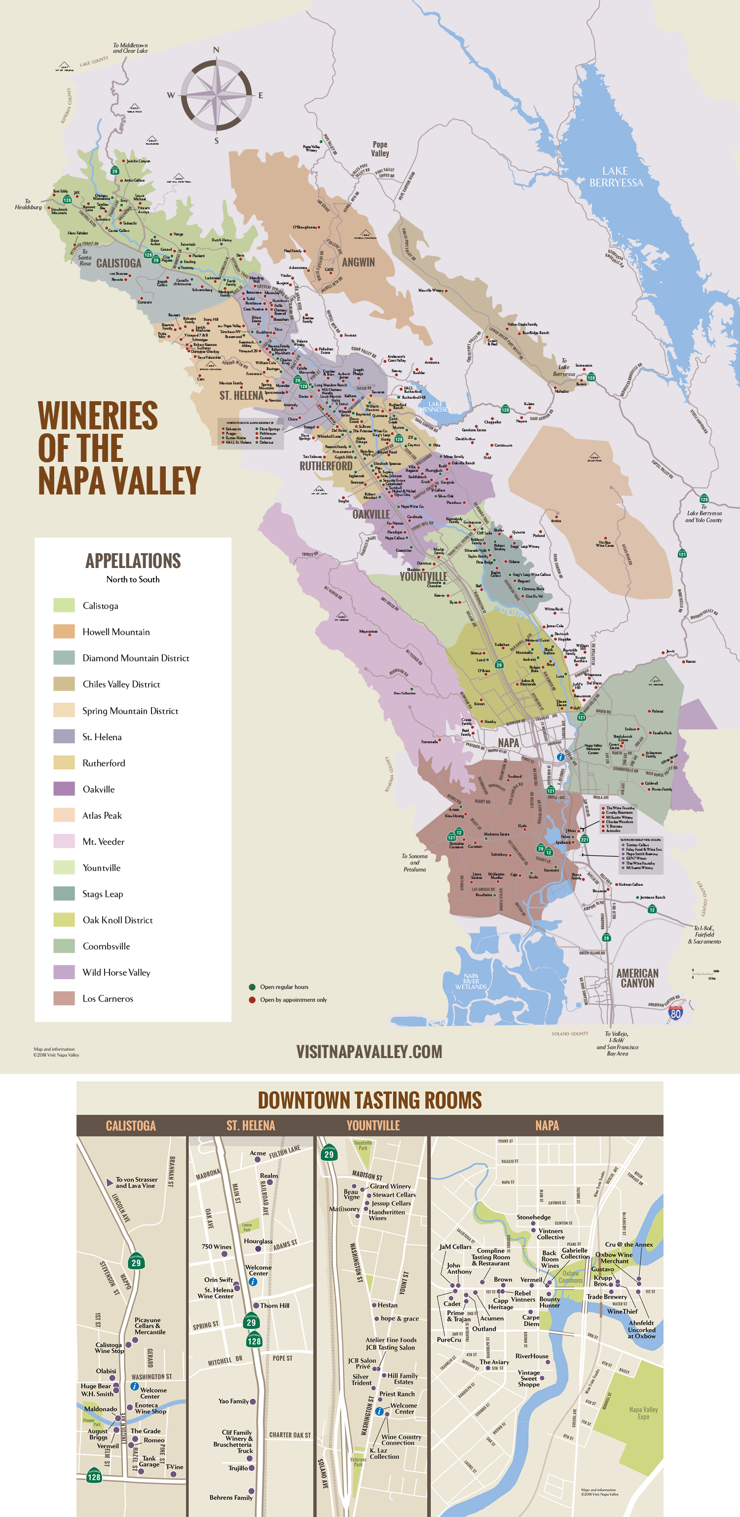 Map Quest California Map.Napa Valley Winery Map Plan Your Visit To Our Wineries