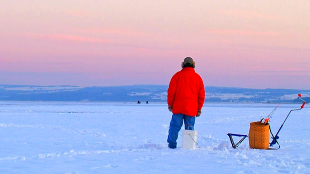 Ice Fishing - Skaneateles Lake