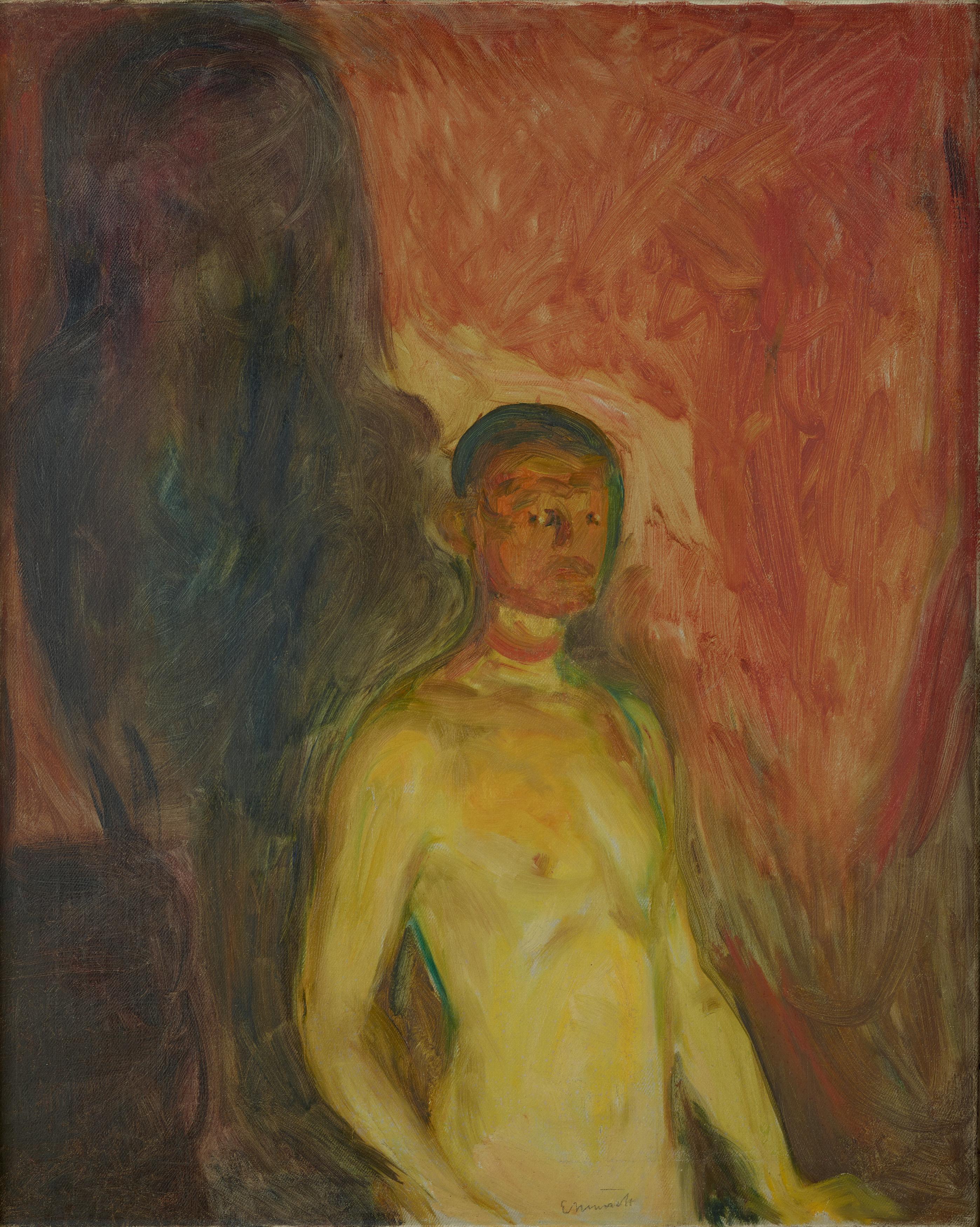 """Self-Portrait in Hell"", Edvard Munch (1903)"