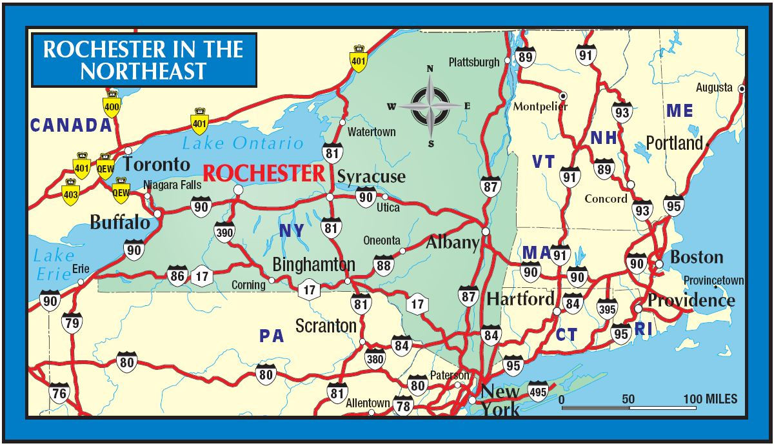 Map Rochester Ny Maps Map Rochester Ny